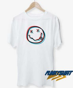 Glitchy Nirvana Smiley Face t shirt