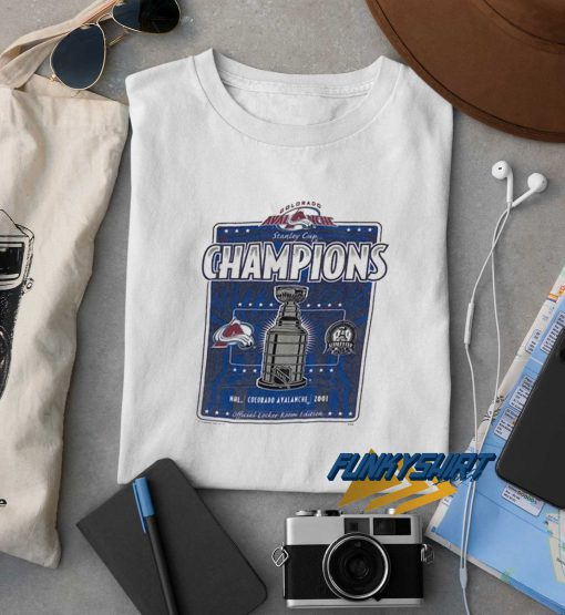 2001 Lee Colorado Avalanche Stanley Cup Champs t shirt