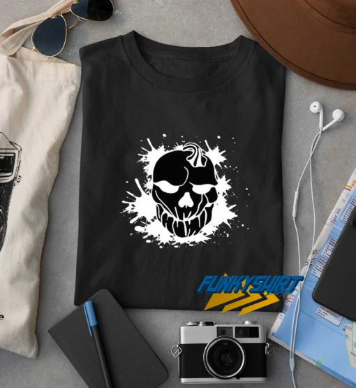 Black Pumpkin Head Skull t shirt