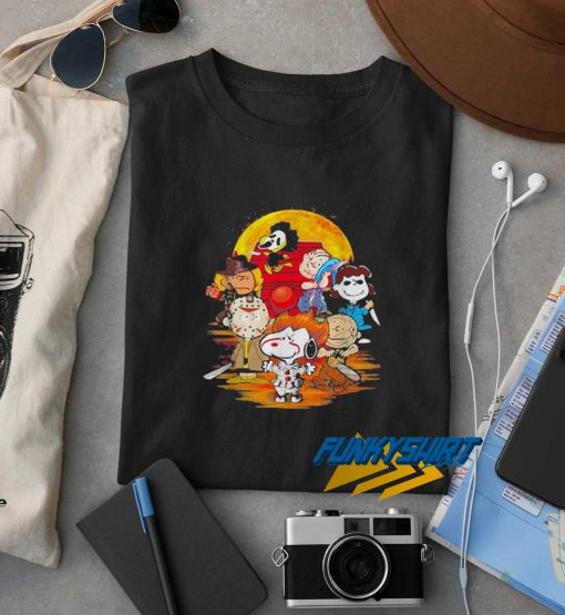 Halloween Horror Characters The Peanuts Moon t shirt