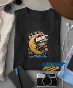 Moon And Rocket t shirt