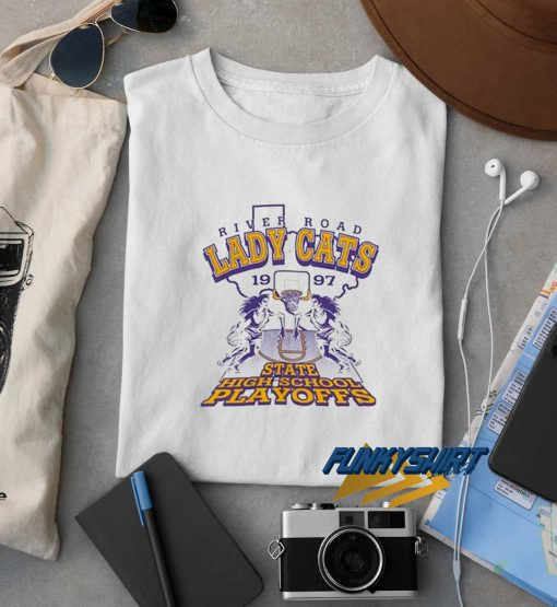 River Road Lady Cats Basketball Graphic Tee t shirt