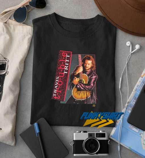Travis Tritt Trouble Album Graphic Country Band Tee t shirt