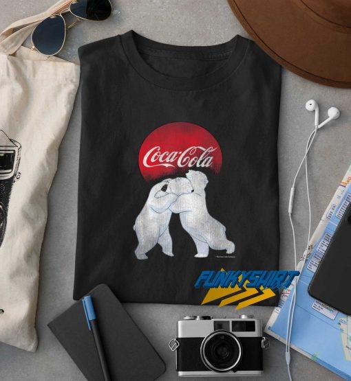 Coca Cola Christmas Polar Bear Hug t shirt