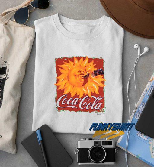 Coca Cola Sun Drinking t shirt
