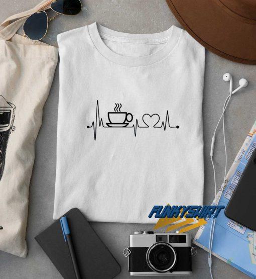 Coffee Heartbeat t shirt