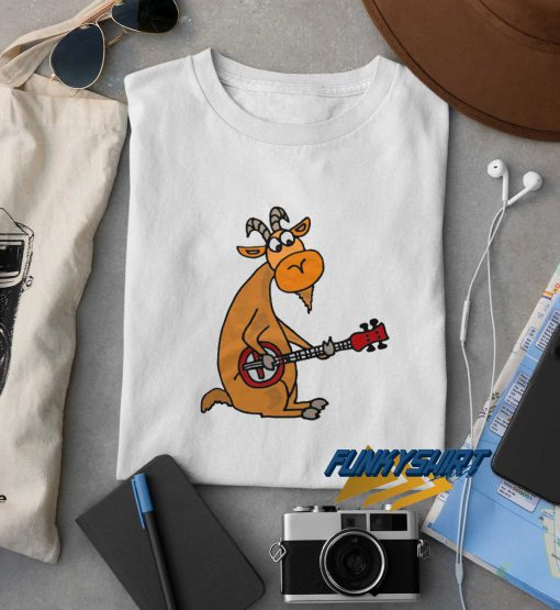 Cool Artistic Funny Billy Goat Playing The Banjo t shirt