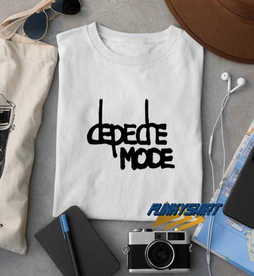 Depeche Mode Text t shirt