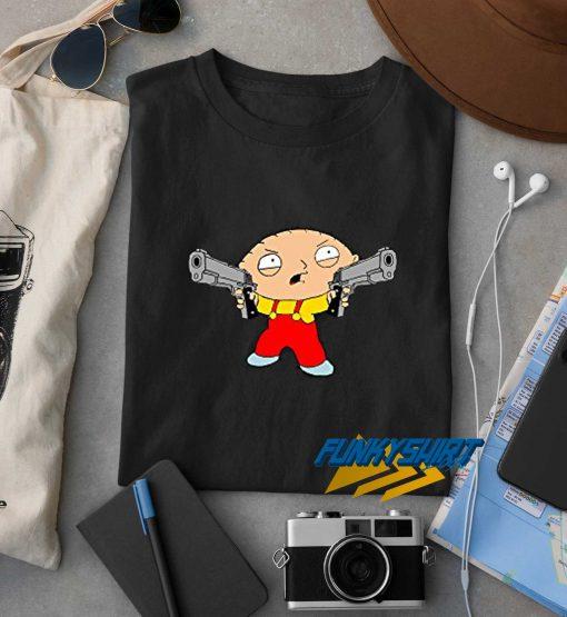 Family Guy Stewie Griffin With Gun t shirt