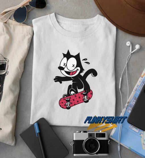 Felix The Cat Skateboard t shirt