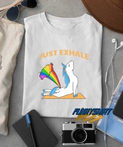 Just Exhale Unicorn Fart t shirt
