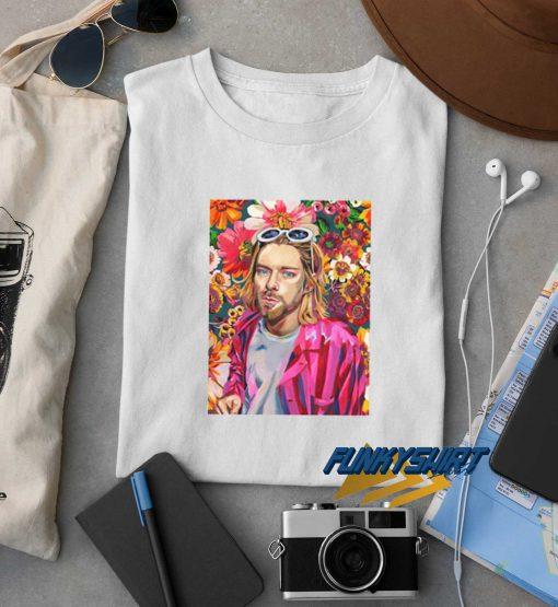Kurt Cobain Flower t shirt