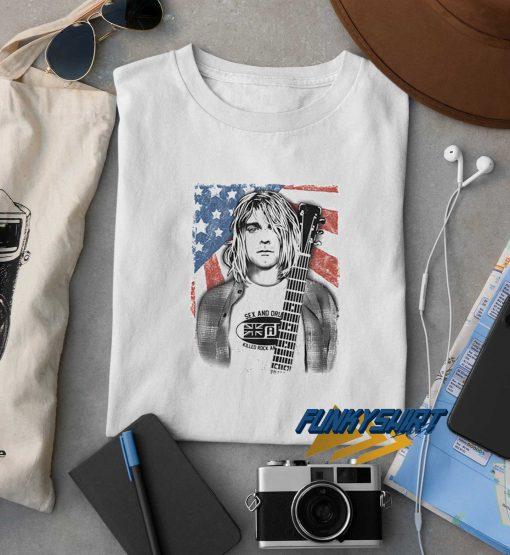 Kurt Cobain Nirvana Flag t shirt