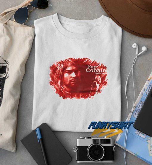 Kurt Cobain Red t shirt