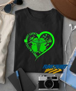 Lucky Green Hearts t shirt