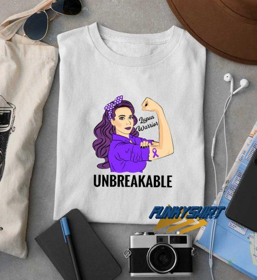 Lupus Awareness Warrior Unbreakable t shirt