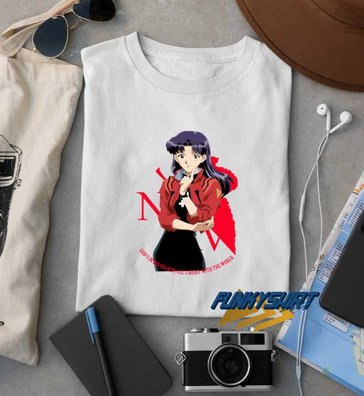 Neon Genesis Evangelion Misato t shirt