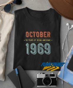 October 1969 Vintage t shirt
