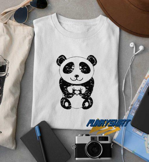 Panda Bear Cute I Love You Heart t shirt