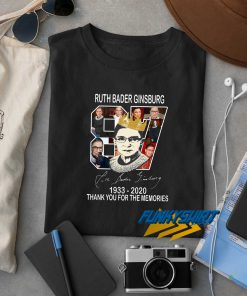 Ruth Bader Ginsburg Thank You For The Memories t shirt
