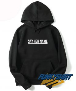 Say Her Name Linen Hoodie