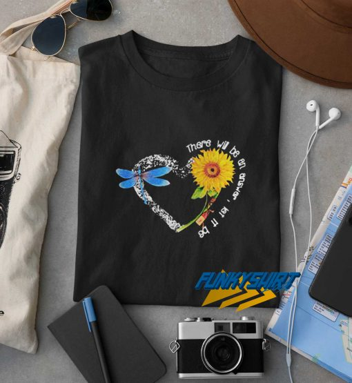 There Will Be An Answer Let It Be Heart Butterfly Sunflower t shirt