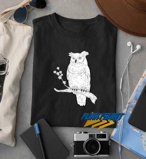 Tisbores Horned Owl t shirt