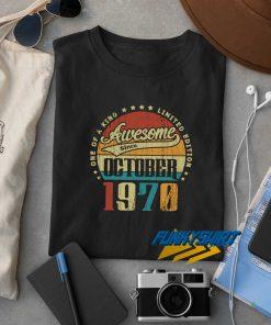 Vintage October 1970 t shirt