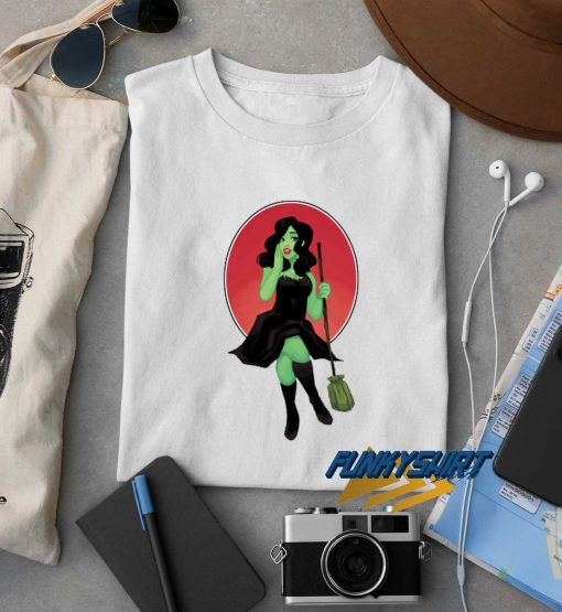 Witch Pinup Halloween t shirt