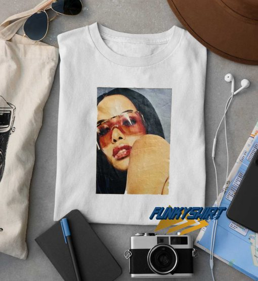 Aaliyah Red Glasses t shirt