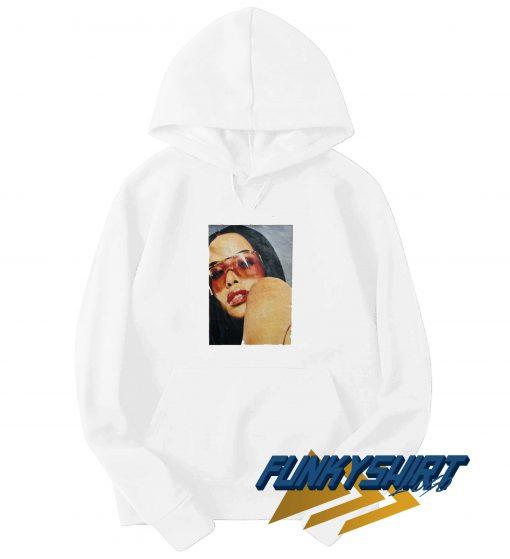 Aaliyah Red Glasses Hoodie
