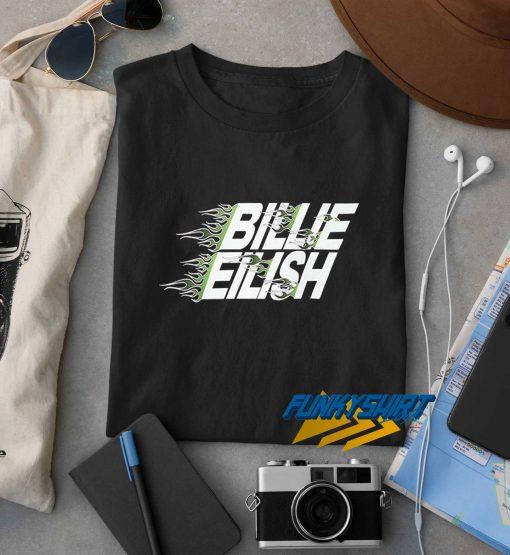 Billie Eilish Green Flaming t shirt