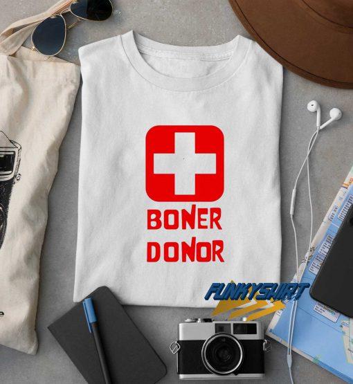 Boner Donor Logos t shirt