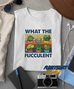 Cactus Cats What The Fucculent t shirt