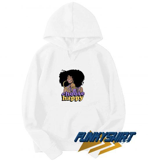 Choose Happy Black Girl Hoodie