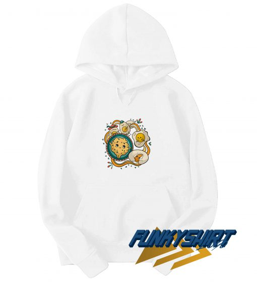 Cookies And Egg Graphic Hoodie