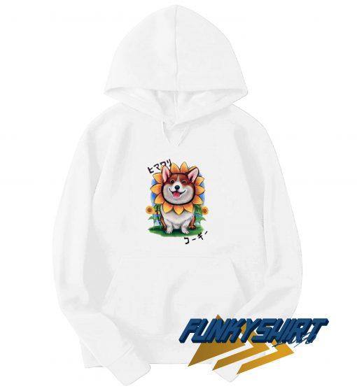 Corgi Sunflower Hoodie