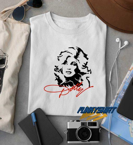 Dolly Parton Face Line t shirt