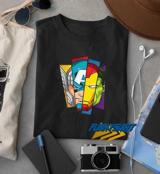 Face Avangers Character t shirt