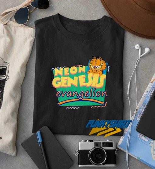 Garfield Neon Genesis Evangelion t shirt