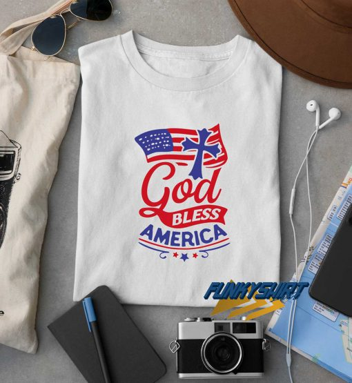 God Bless America Graphic Logo t shirt