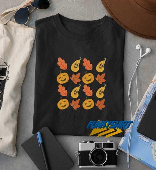 Halloween Pumpkins Autumn Fall Leaves t shirt