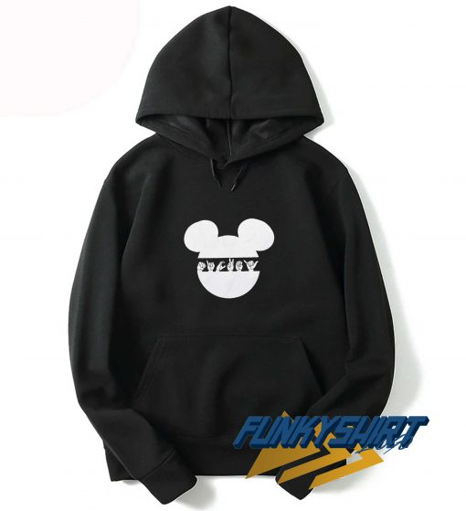 Hand Sign In Mickey Head Hoodie