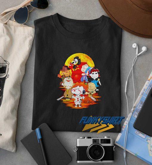 Horror Characters The Peanuts Halloween Moon t shirt