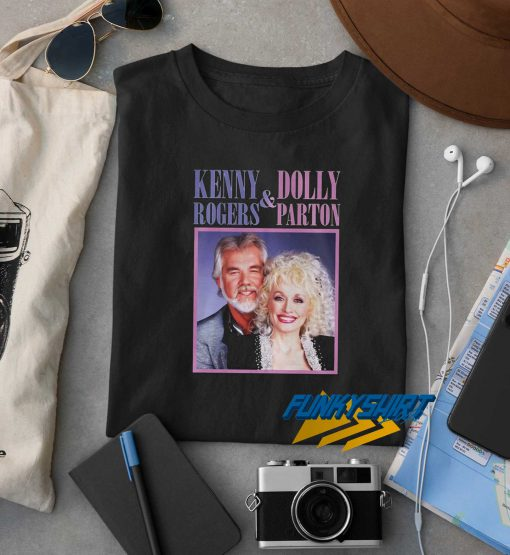 Kenny Rogers Dolly Parton Smile t shirt