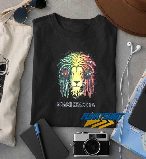 Miami Beach Reggae Lion t shirt