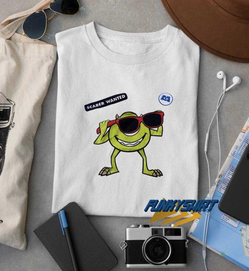 Scarer Wanted Mike Wazowski t shirt