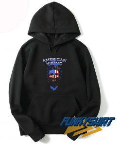 Skull American Flag Viking Hoodie