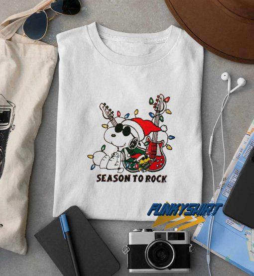 Snoopy Season To Rock t shirt