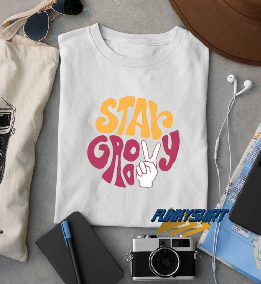 Stay Groovy Print t shirt